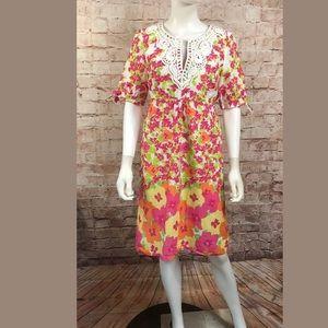 Lilly Pulitzer 8 Shift Dress Empire Short Sleeve